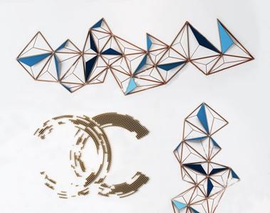 现代金属墙饰挂件3D模型【ID:420829952】