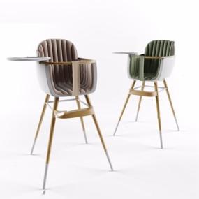 现代婴儿餐椅3D模型【ID:328240178】