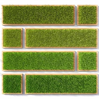 现代绿植墙3D模型【ID:124882811】