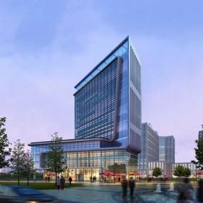 现代建筑外观3D模型【ID:528012482】