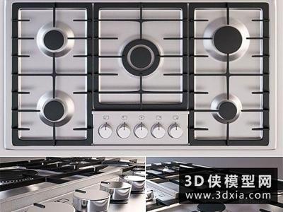 灶具國外3D模型【ID:129536383】