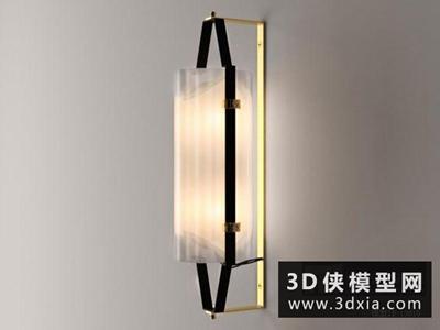 現代壁燈國外3D模型【ID:829762890】