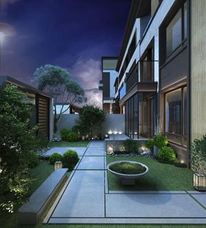 现代庭院花园3D模型【ID:931949925】