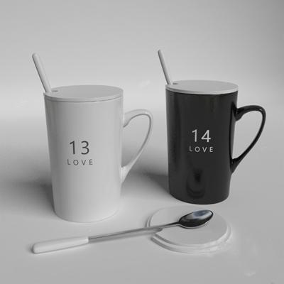 现代杯子3D模型【ID:220603881】