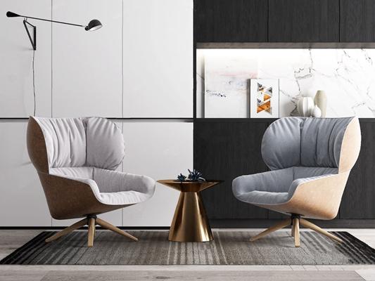 单人沙发3D模型【ID:920023634】