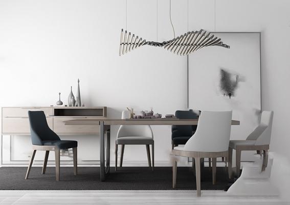 餐桌椅组合3D模型【ID:120025853】