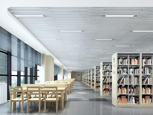 现代图书馆3D模型【ID:124894879】