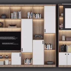 北欧多功能电视柜装饰柜组合3D模型【ID:927838200】