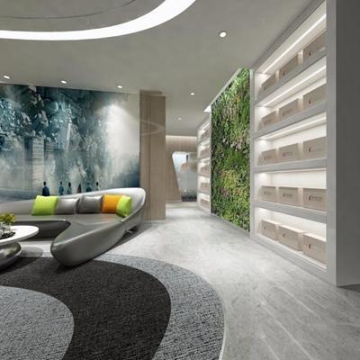 辦公室走廊3D模型【ID:427956348】