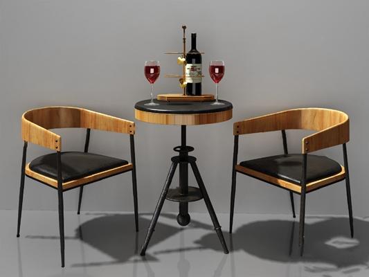 现代休闲沙发组合3D模型【ID:126234211】