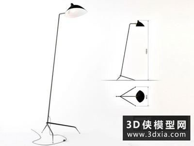 现代落地灯国外3D模型【ID:929588020】