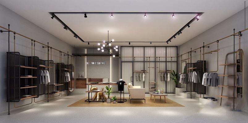 現代服裝店3D模型【ID:528039429】