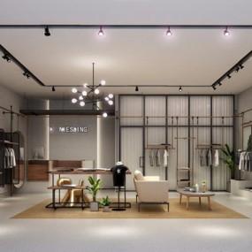 现代服装店3D模型【ID:528039429】