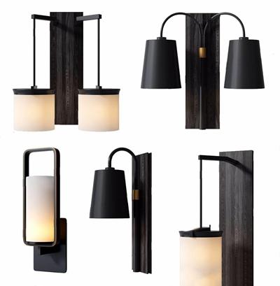 新中式壁燈3D模型【ID:528275988】