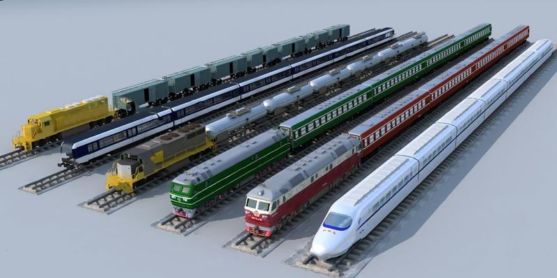 现代火车3D模型【ID:324881589】