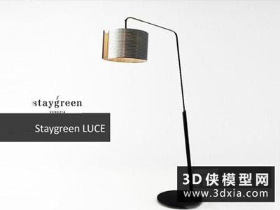 现代时尚落地灯国外3D模型【ID:929692081】