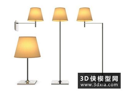 现代落地灯国外3D模型【ID:929828075】