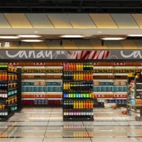 现代超市3D模型【ID:124878274】