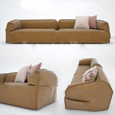 现代双人沙发3D模型下载【ID:919401783】