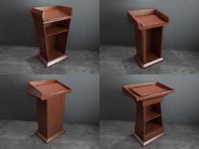 现代实木演讲台组合3D模型【ID:227780319】