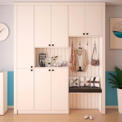 现代白色鞋柜摆件组合3D模型【ID:928564343】