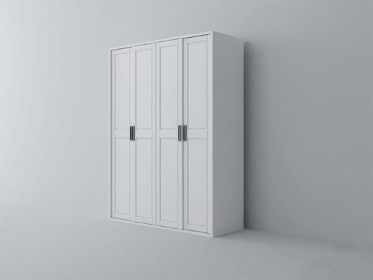 現代四門衣柜-XS3D模型【ID:928198995】