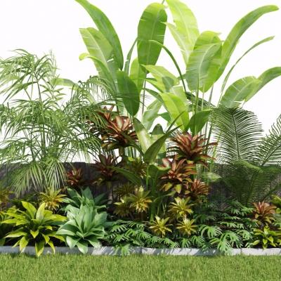 现代灌木绿植园林景观3D模型【ID:327768901】