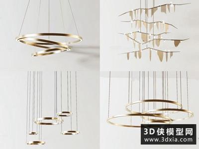 现代吊灯国外3D模型【ID:829345705】