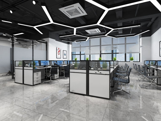 现代办公室3D模型