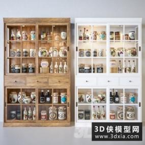 现代厨房食品柜】