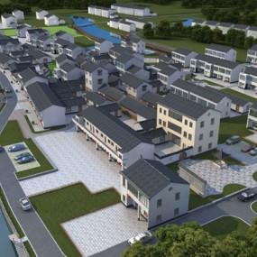 现代小区建筑3D模型【ID:126230845】