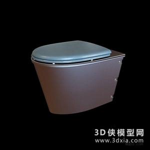 马桶国外3D模型【ID:929860938】