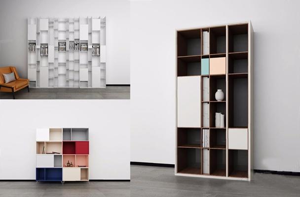 现代书柜3D模型【ID:928205512】
