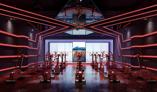 现代健身房3D模型【ID:734273823】