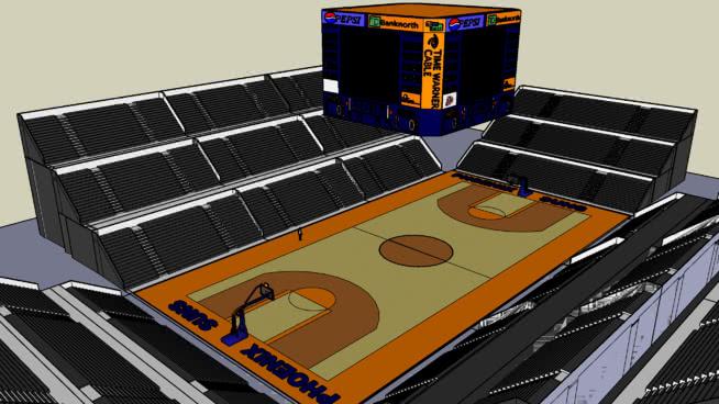 篮球场SU模型【ID:438414936】