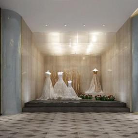现代婚纱店3D模型【ID:528032574】