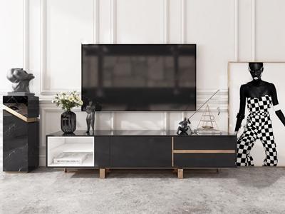 现代电视柜组合3D模型【ID:941804941】