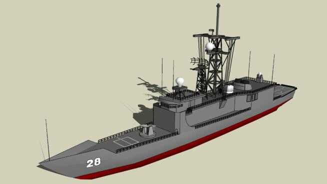 布恩號航空母艦FFG-28SU模型【ID:840023452】