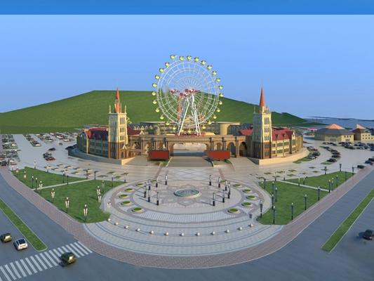 游乐园3D模型【ID:620011008】
