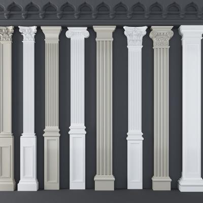 歐式羅馬柱組合3D模型【ID:627805970】