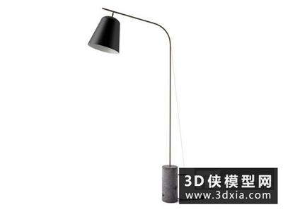 现代落地灯国外3D模型【ID:929687043】
