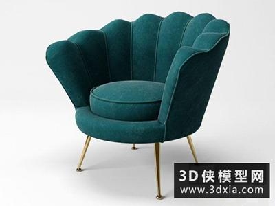 現代休閑椅國外3D模型【ID:729527806】
