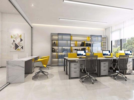 现代财务办公室3D模型【ID:728109630】
