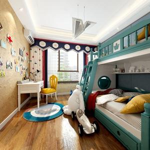 美式兒童房3D模型【ID:532412767】