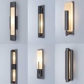 新中式壁灯组合3D模型【ID:528009903】
