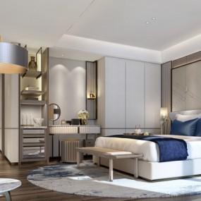 现代酒店客房3D模型【ID:427795683】