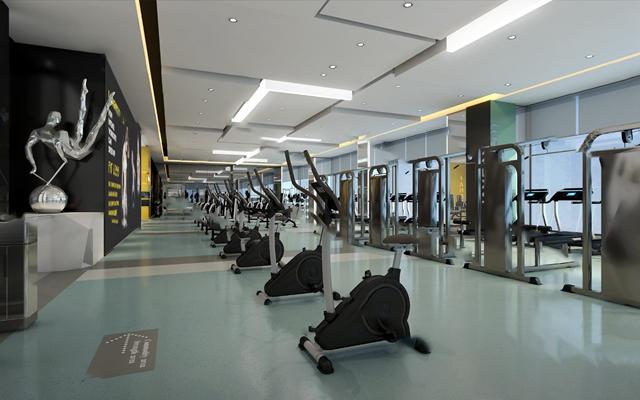 现代健身房3D模型【ID:920613939】