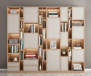 现代书柜3D模型【ID:141357528】