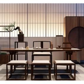 新中式书桌椅组合365彩票【ID:327899753】