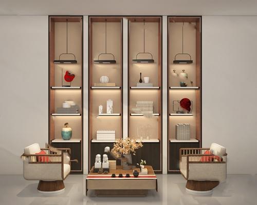 现代装饰柜3D模型【ID:124884247】